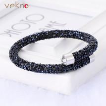 Swarovski Crystal Wrap Bracelet (Black) - $19.42 CAD