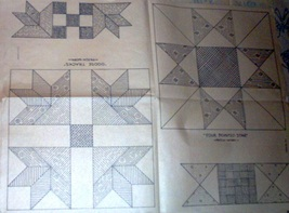 1930's  Goose Tracks & 4 Pointed Star patchwork quilt ptrn (23) - $10.00