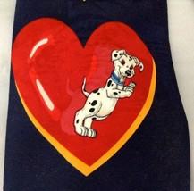 Disney Neck Tie 101 Dalmatians Hearts Valentine Puppies Navy Red Necktie... - $14.79