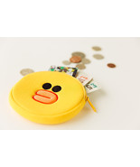 LINE Friends SALLY Face Coin Purse Wallet Naver Character Pouch Bag Acc ... - $18.68