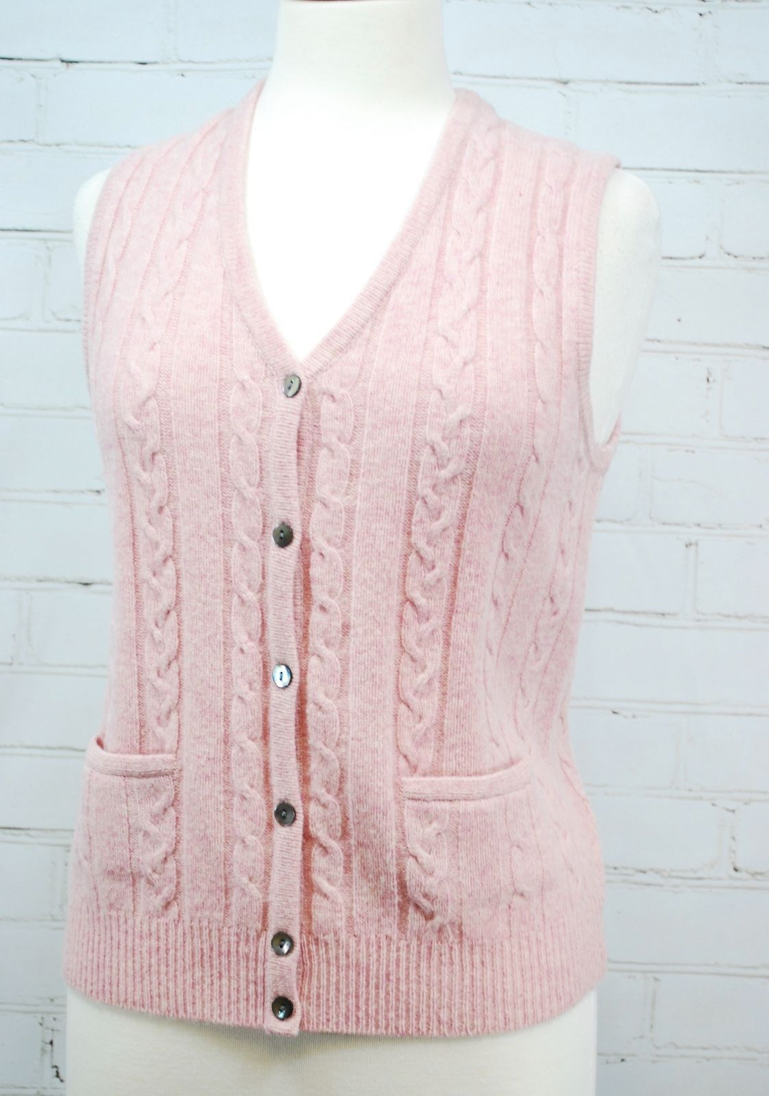 Eddie Bauer Pink Heathered 100 Lambs Wool And 50 Similar Items