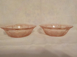 "Two ""Jeanette Glass Co"" Pink Berry Bowls - $15.00"