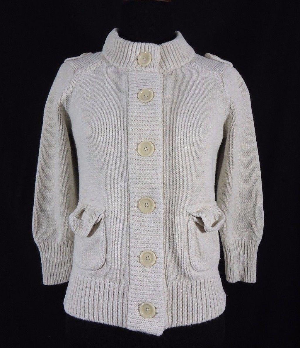 f50a213db4e2 Banana Republic Heavy Knit Sweater Jacket and 50 similar items. 57