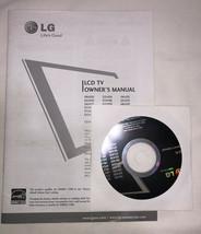 LG OWNER'S MANUAL LCD TV OWNER'S MANUALS + CD  - $7.99