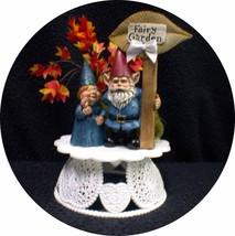 Garden Fairy Lovers Wedding, Engagement, Shower Cake topper. Nature gardening - $38.61
