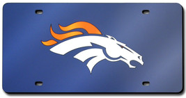 Denver Broncos Laser Cut Navy License Plate - $32.00