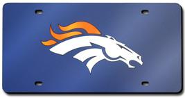 Denver Broncos Laser Cut Navy License Plate - $32.00