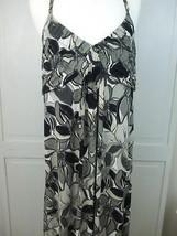 Elle Backless Halter Top Long Dress Neck Metal Strap Black Gray White Fl... - $19.26
