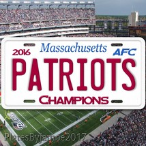2016 AFC Champion PATRIOTS Aluminum License Pla... - $12.99