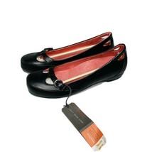 Vionic orthaheel Sophia Black Leather Buckle Flats Round Toe Women Size ... - $79.17