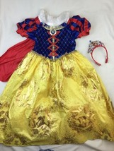 Disney Store Snow White Costume Size 7-8 Dress Gown - $32.71
