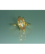 Marquise Champagne Solitaire Ring Size 6  - $25.00