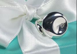 "Tiffany & Co. Elsa Peretti Diamond ""Round"" Ring Sterling Silver Retired,... - $396.24"