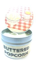 Buttered Popcorn 4oz All Natural Hand Made Novelty Soy Candle Tin Approx... - $5.99