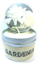 Gardenia 4oz All Natural Hand Made Novelty Soy Candle Tin Approximate Bu... - $5.99