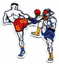 Muay Thai boxing fighters boxers martial arts applique iron-on patch new... - $3.95