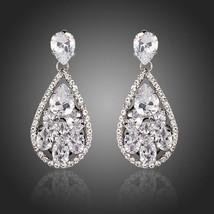 Bridal Chandelier Earrings Cubic Zirconia Drop Dangle Earrings Tassle Ea... - $24.30