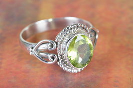 Lovely Peridot Gemstone Sterling Silver Ring All size BJR-513-PRC - $15.99+