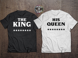 King and Queen couple, The King His Queen,  King Queen Couple shirts, pä... - $19.68 CAD
