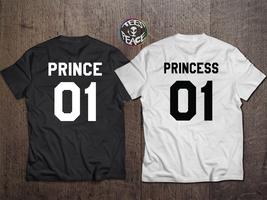 Prince Princess 01, PRINCE PRINCESS Couples Shirt Set, Prince Princess s... - $19.68 CAD