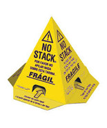 100 No Stack Pallet Cones 8 x 8 x 10 Yellow/Black : English,Spanish, French - $161.79