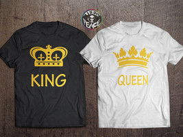 King Queen Couples Shirts, King and Queen Couples Shirt Set, King and queen - $19.68 CAD