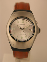 Seiko womens watches kinetic leather strap stainless steel SWP277P1 - $152.46