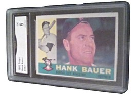 1960 Topps Hank Bauer GMA Graded 5 EX baseball card number 262 Athletics - $9.99