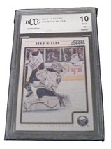 2012-13 Score Ryan Miller BCCG Graded 10 MINT Hockey Card Panini 71 - $4.99