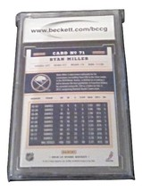2012-13 Score Ryan Miller BCCG Graded 10 MINT Hockey Card Panini 71 image 2