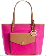 Michael Kors Jet Set Item Nylon Medium Tote in Fuchsia 35H5GJ2T2C New - $179.95