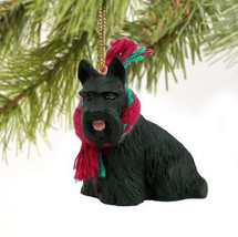 SCOTTISH TERRIER SCOTTIE DOG CHRISTMAS ORNAMENT HOLIDAY  Figurine gift X... - $9.50