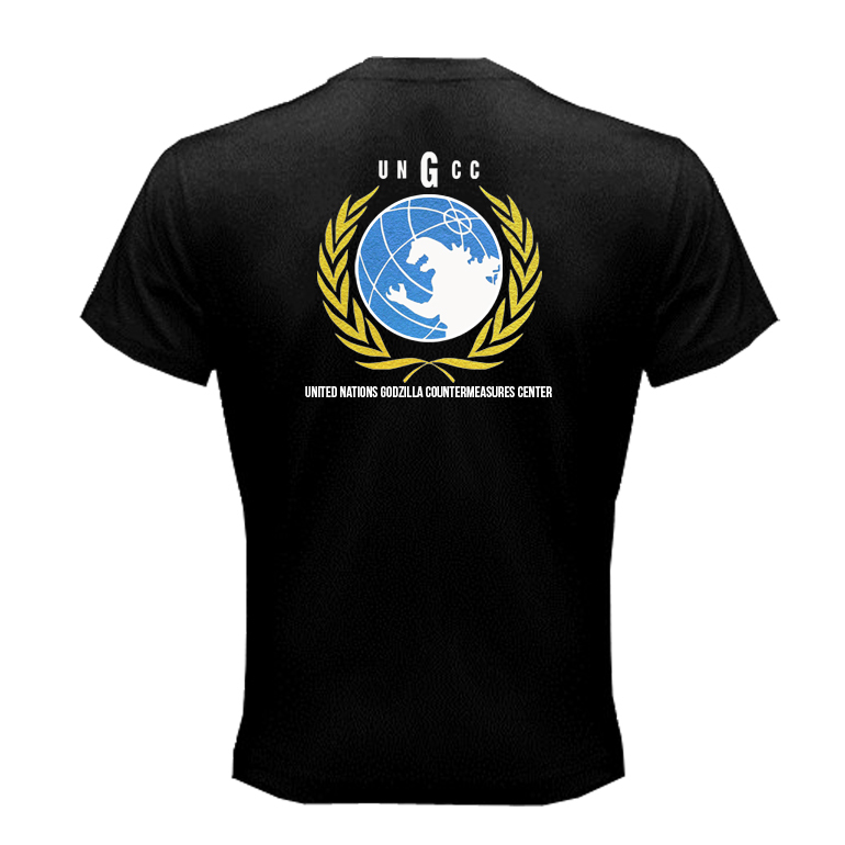 Ungcc united nations godzilla countermeasures center t for T shirt printing fairlane mall