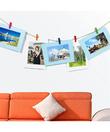 Photo Frame 6 Inch Creative Gift DIY Rope Clips Wall Hanging Picture Alb... - $3.49