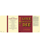 Fleming-facsimile jacket for 1st UK ed. of LIVE AND LET DIE - $21.56