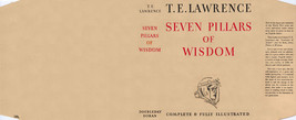 Lawrence SEVEN PILLARS OF WISDOM facsimile dust jacket for the first edn... - $22.54