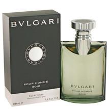 Bvlgari Pour Homme Soir by Bvlgari Eau De Toilette Spray 3.4 oz - $53.95