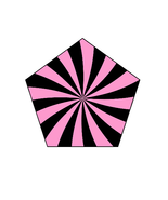 Mix Pink/Black Shape 2-Gift Tags-Gift Cards-Hea... - $3.00