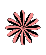 Mix Pink/Black Shape 3-Gift Tags-Gift Cards-Hea... - $3.00