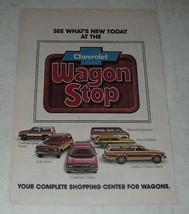 1978 8-page Chevy Wagon Ad - Caprice, Malibu, Suburban, Sportvan, Blazer, Monza - $14.99