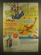 1978 2-pg Disney's Wonderful World of Reading Ad - Winnie the Pooh and Tigger - $14.99