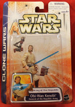 Star Wars 2003 Clone Wars Army of the Republic Obi Wan Kenobi  - $10.99