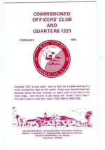 Charleston Naval Station Commissioned Officers Club Quarters 1221 Bullet... - $19.78