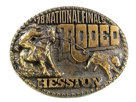 1978 National Finals Rodeo Belt Buckle By HESSON 12317 - $24.99