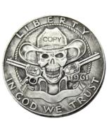 Hobo Creative 1961 Franklin Silver Half Dollar skull zombie skeleton Cop... - $7.99