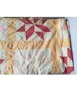 """Vintage Handmade Quilt Blanket 2 Sided Reversible Floral Patchwork 66"""" x... - $65.09"""