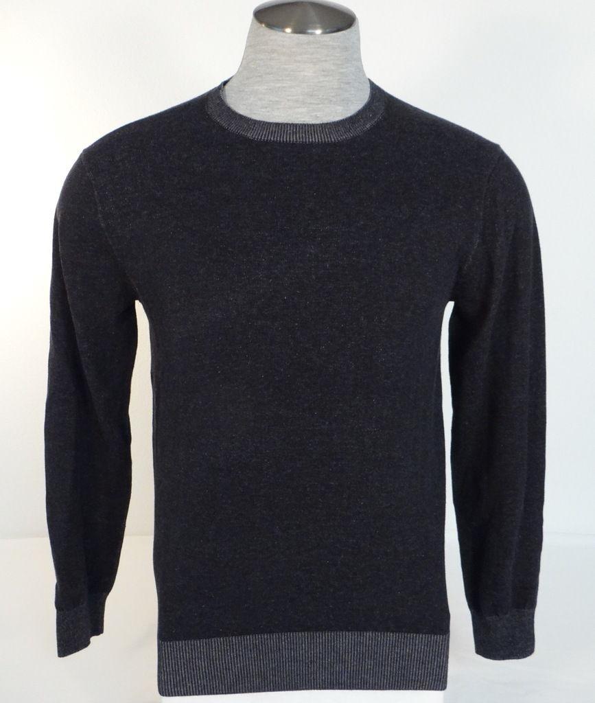 Mens Merona Light Weight Grey Heather V-neck Sweater Size M Medium