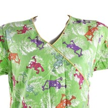 Dickies Smiling Frogs Small Scrub Top - $15.83