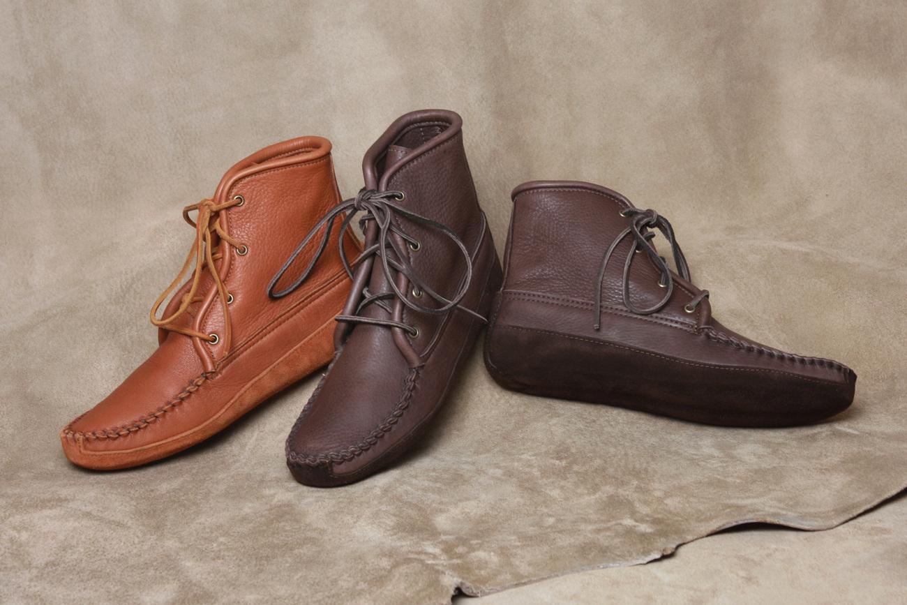 Mens Footwear Deertan Leather Walking Boots Canoe Soles Sizes 6-13 Made in USA Bonanza