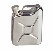 Jerry GI Gas Can Jug Stainless Whiskey Alcohol Booze Pocket Mini Steel F... - €12,86 EUR